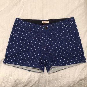 Blue polka dot shorts